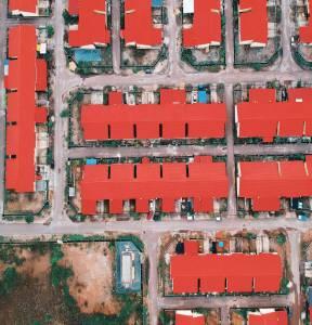 lotissement maisons collées et absence de verdure