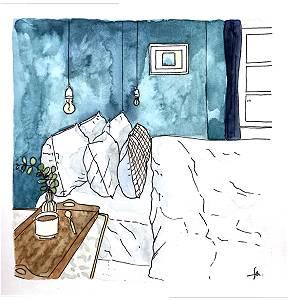 chambre bleu canard la maison plume parlons maisons