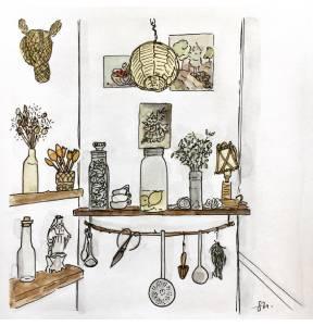 étagère cuisine lieux précieux