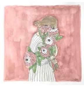 femme fleur lieux precieux